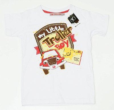 Camiseta Infantil My Little Troller - Branca