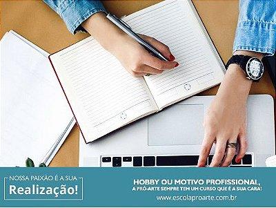 Coloque as ideias no papel: oficina de escrita- Mensal Aulas 1 vez por semana