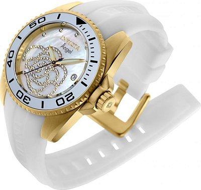 4e5b7534b7c Relógio Invicta Feminino 24615 Angel Dourado 18K - Original ...