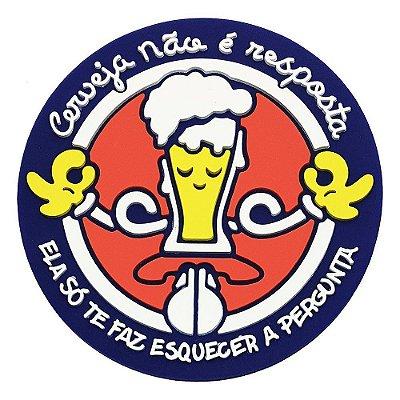 Porta-Copo de Borracha Cerveja Não é a Resposta