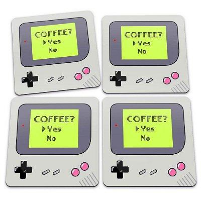 Porta-Copos Conjunto 4 Peças Game Boy