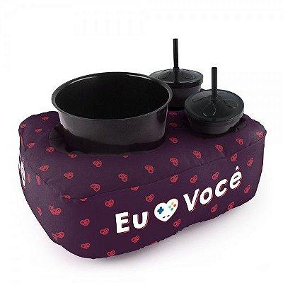Almofada Porta-Pipoca Amor Geek