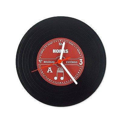 Relógio de Parde Disco de Vinil