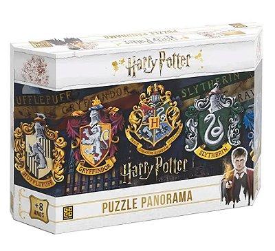 Quebra-Cabeça Casas Hogwarts Puzzle Panorama - Harry Potter