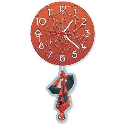 Relógio com Pêndulo Homem-Aranha - Spider-Man