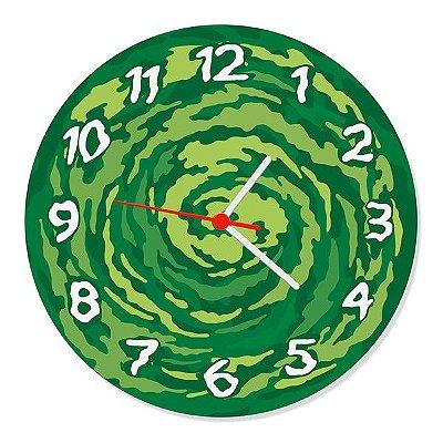 Relógio de Parede Portal - Rick and Morty