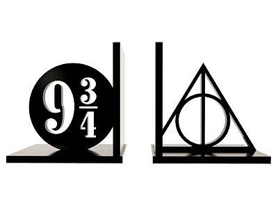 Aparador de Livros Relíquias da Morte e Plataforma 9 3/4 - Harry Potter