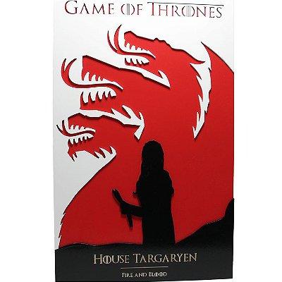 Quadro em Relevo Casa Targaryen - Game of Thrones