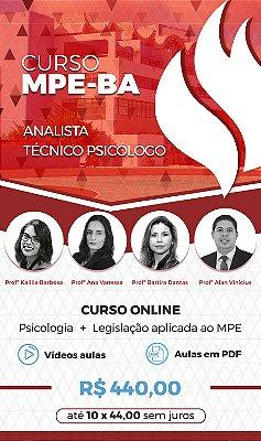 Curso Online: MPE - BA