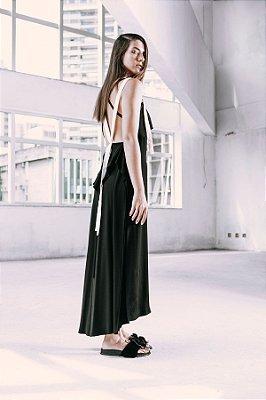 vestido  6 alças com decote nas costas