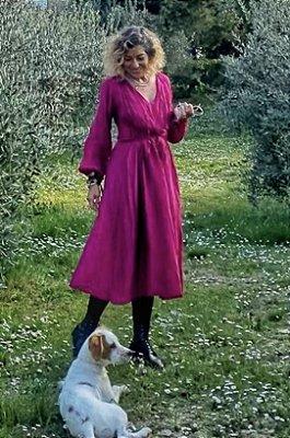 Vestido túnica midi
