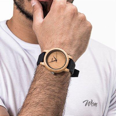 Relógio Won Black Wood
