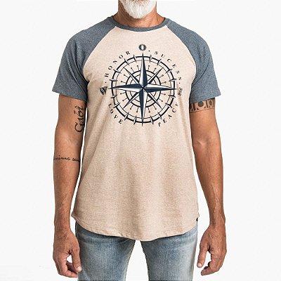 Camiseta Raglan WON Rosa dos Ventos
