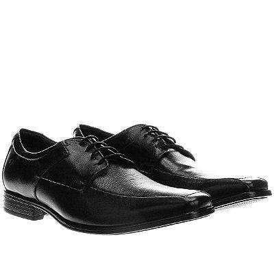 Sapato Democrata Couro Cosmo Flex Stretch - Preto