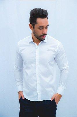 Camisa Ogochi Casual Slim Fit - Branca