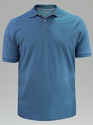 Polo Ogochi Essencial Piquet - Azul Aço