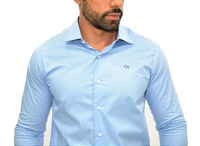 Camisa Ogochi Essencial Slim Fit - Azul Claro