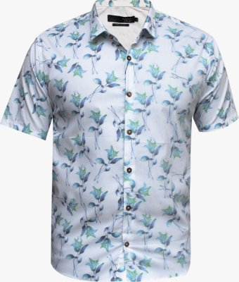 Camisa Ogochi Essencial Slim Fit - Branca Floral