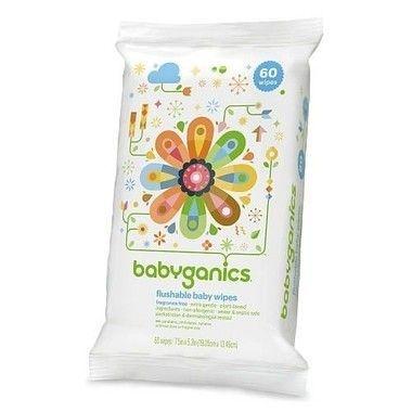 Babyganics Flushable Baby Wipes