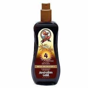 Spray gel sunscreen SPF 4