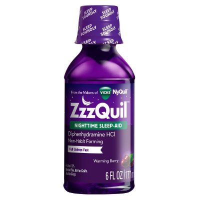 Zzzquil Nighttime Sleep-aid Liquid Warming Berry