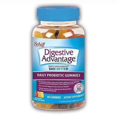 Schiff Digestive Advantage Probiotic Gummies, 60 Gummies