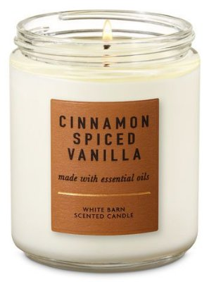 Cinnamon Spiced Vanilla Single wick Candle