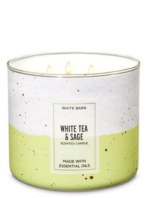 White Tea & Sage 3-Wick Candle