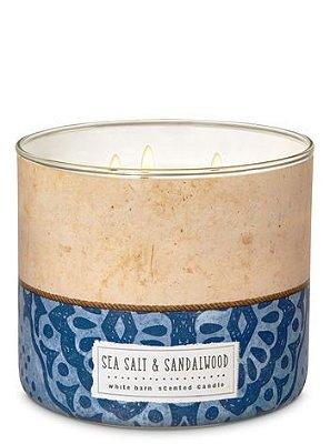 Sea Salt & Sandalwood 3-Wick Candle