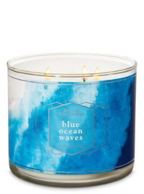 Blue Ocean Waves 3-Wick Candle
