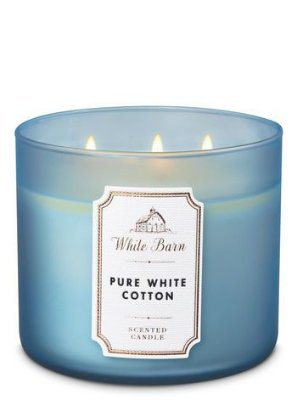 Pure White Cotton 3-Wick Candle
