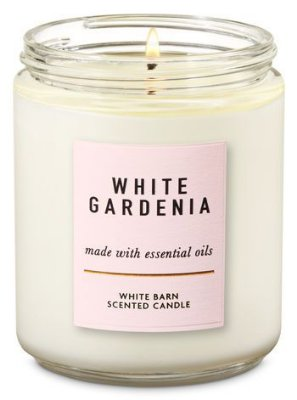 White Gardenia Single Wick Candle
