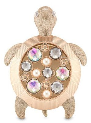 Sparkly Gemstone Turtle Visor Clip Scentportable Fragrance Holder