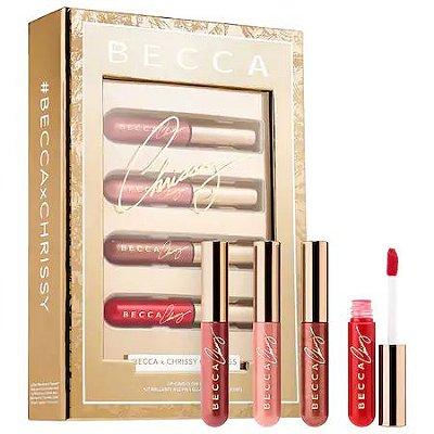 Becca x Chrissy Teigen Lip Icing Glow Gloss Kit - Edição Limitada