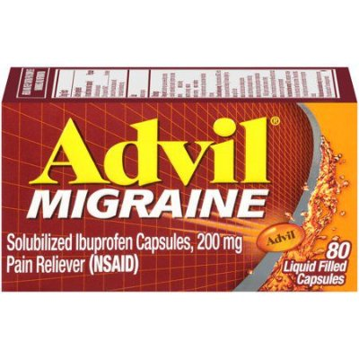 Advil Migraine Pain Reliever Liquid Filled Capsules