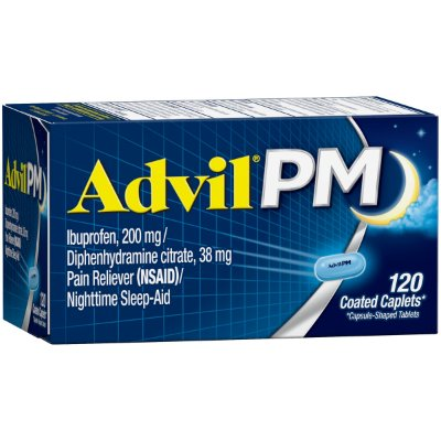 Advil PM Pain Reliever / Nighttime Sleep Aid Coated Caplet