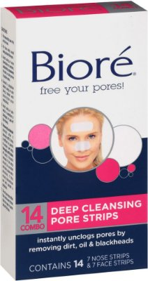 Biore Combo Pack Deep Cleansing Pore Strips Face/Nose