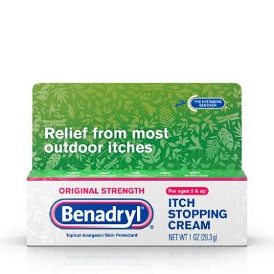 Benadryl Original Strength Itch Relief Cream, Topical Analgesic