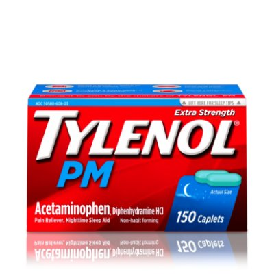 Tylenol PM Extra Strength Pain Reliever & Sleep Aid Caplets