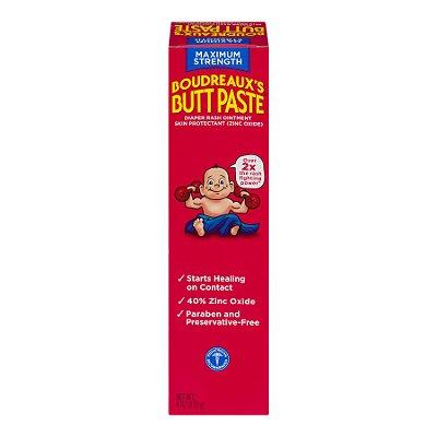 Boudreaux's Butt Paste Diaper Rash Ointment, Maximum Strength