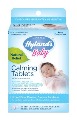 Hyland's Baby Calming Tablets, Natural Relief of Occasional Sleeplessness, Fussiness, And Irritability