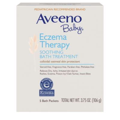 Aveeno Baby Eczema Therapy Soothing Bath Treatment with Natural Oatmeal