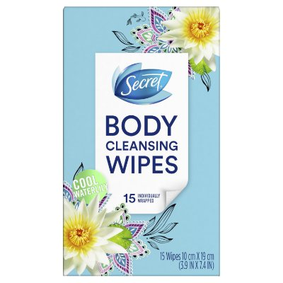 Secret Body Cleansing Wipes Cool Waterlily Scent