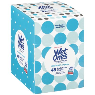 Wet Ones Antibacterial Hand Wipes Singles, Fresh Scent