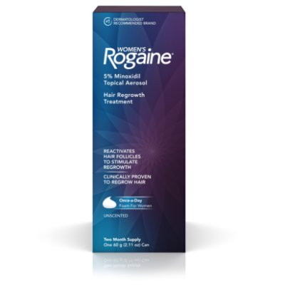 Women's Rogaine 5% Minoxidil Foam for Hair Regrowth, 2-Month Supply