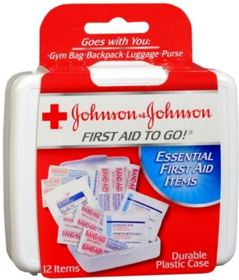 Johnson & Johnson First Aid To Go Kit 12 Itens