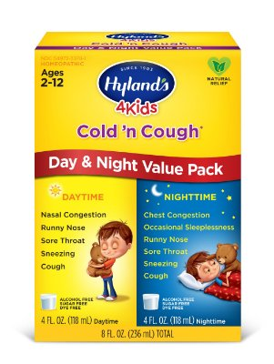 Hyland's 4 Kids Cold 'n Cough Day and Night Value Pack, Natural Relief of Common Cold Symptoms