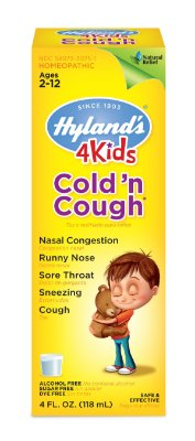 Hyland's 4 Kids Cold and Cough Relief Liquid, Natural Relief of Common Cold Symptoms