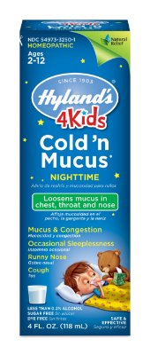 Hyland's 4 Kids Cold 'n Mucus Nighttime Relief Liquid