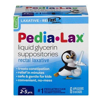Pedia-Lax Liquid Glycerin Suppositories Rectal Laxative 6UN